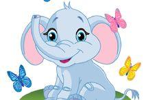 elephant dekupaj