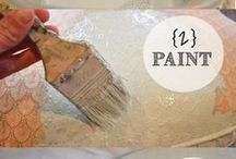 paint fabric with chalk paint