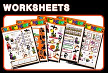 HALLOWEEN - ENGLISH TEACHING RESOURCES) / This pack contains:  - 6 worksheets; - 1 listening exercise; - 1 picture dictionary; - 1 poster; - 1 set of bingo cards; - 1 set of dominoes; - 1 spelling activity; - 1 set of flashcards; - 1 board game; - 6 paper bags; - 1 halloween mobile; - 2 PPT presentation + game - 1 listening activity.  THIS PACK COSTS 3,00€ RESOURCES AVAILABLE HERE: http://eslchallenge.weebly.com/halloween.html  FOR FURTHER INFORMATION, PLEASE EMAIL ME AT: eslteachingresources@hotmail.com  HAVE FUN!!!!