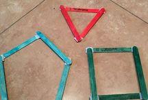 Matemática / Atividades de matemática e geometria para crianças