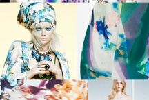 Fashion trends ss2017 / moodboard, patterns, inspiration, colors