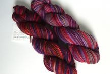 Hand dyed yarn favourite shades