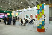 Fair Stand Design 2017 / The stand was designed for Atlas Waste Management that provides city cleaning and recycling services for municipalities with an art space approach to reflect the company's different perspectives on their business at REW Istanbul International Recycling, Environmental Technologies and Waste Management Trade Fair in İstanbul in 2017.  The fair stand was designed together with multidisciplinary artist and designer Pınar Akkurt. Photo Credits: Zeynep Özkanca
