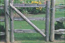 Simple Wooden Garden Gate
