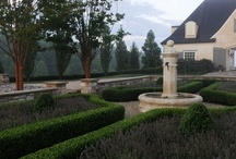 garden ideas new house / formal hedging, classic hard landscaping, symmetry