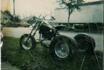 My Sweet Obsession for Harleys,Bikers & Biker Bling / Been riding motorbikes since I was 15 & married a biker at 17.  My 3 sons & grandson also ride....so it is in the blood.  Love the vibration, the power & the freedom.  Rode a '47 Knucklehead Trike in the mid to late '70's -  with a suicide shift & reverse.  Was a SWEET ride !!!
