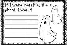 Halloween kirjoituspohjia