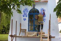 maľovať  domov modrou č icmany