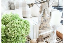 Summer into fall decor