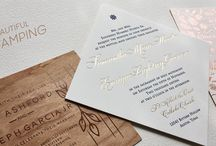 Foil Stamped Wedding Invitations / Beautiful Foil Stamped Invitations from Percolator Letterpress Co.