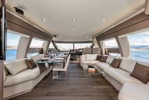 Ferretti Yachts 690 Interior Design / Discover the #Interior #Design #MadeInItaly on board of the Ferretti #Yachts 690
