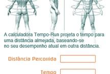 Corrida, musculação e exercícios.