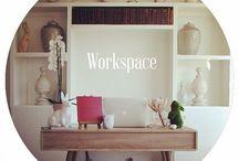 Workspace / Decor Ideas. Decor planning. Workspace. Desk. office spaces.  Malva workspace.