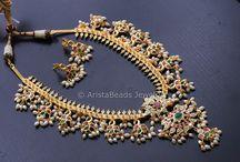 South Indian Jewelry / South indian jewelry, Indian jewelry, Polki necklace, Polki jewelry, Temple jewelry, Temple necklace, Peacock necklace, Handmade jewelry, Handmade Necklace