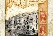 Postkort / Gamle postkort. Postkort som er laget i polyvore. Vintage kort.