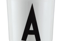 Childrens tableware / Design Letters & Friends tableware for kids. Eat, play and learn the alphabet at the same time. Typography: AJ Vintage ABC designed by Arne Jacobsen in 1937.