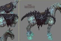 Creature Design / Concepts, finished designs/illustrations of creatures.