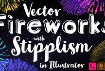 Illustrator Cheats / Scalable Vector Fireworks in Illustrator