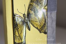 Butterfly Cards / Stampin Up inspiration.  Butterfly cards.   Sue Madex