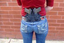 Závěsy, nošení zbraní