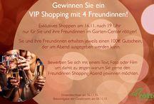 VIP Shopping / Exklusives Shoppen am 16.11.2015 im Garten-Center röttger!