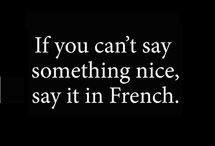 If You Can't Say Something Nice, Say It In French