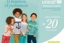 Colección Solidaria Unicef / Descubre nuestra colección más solidaria. ¡Por cada prenda que compres Unicef vacunará a 20 niños! http://bit.ly/vb-unicef