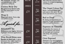 Blow Dry Bar menu / Prices for all of our Blow Dry services and colour add ons!