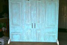 Front door bench/storage ideas