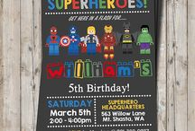 super heroes lego party