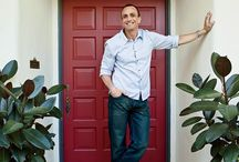 """Hank Azaria's Bel Air Home / As seen in Architectural Digest, """"From its Monterey Colonial veranda to its artfully rough-hewn floors, the actor's residence is where he concentrates on what really matters: family, outdoor life, and poker."""""""