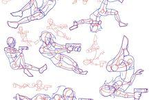 actıon drawing poses
