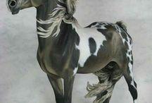 Model horses resin