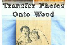 photo ' s transfer on wood