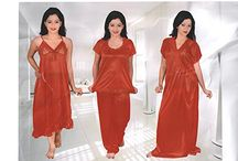4 pc nighty For Womens