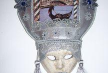 Máscaras Venecianas by ArtesAna / Confecionadas a mano  ,(  hechas por mi )con la antigua técnica veneciana ,en cartapesta ...