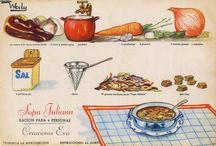 Historia de la alimentación / Fotografías relacionadas con la historia de la alimentación: viejos cafés y restaurantes, antiguos colmados, productos tradicionales, etc.
