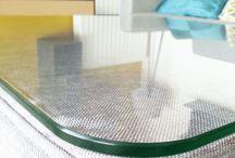 Meuble en verre trempé / Mobilier en verre trempé de séucrité