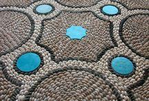 mosaicos piedra rio