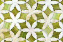 yeşil tonlu desenler