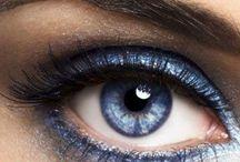 как накрасить голубые глаза