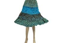 Hippie fashion skirt
