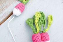 Fruits légumes crochetés