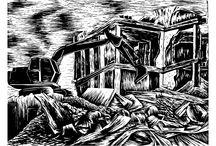 Poetika demoličního stroje / grafika