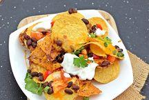 Masala black bean nachos