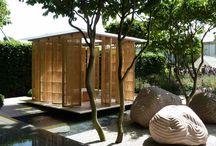 Wood pavilion