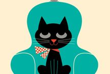 cats and dogs illustrations / by judit ruano