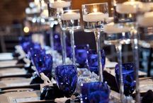 Navy blue, silver and black event