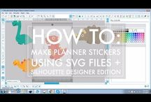 Silhouette Cameo & Cricut Explore Planner Sticker Tutorials