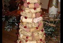 Arbres de Noël en bouchon de liège